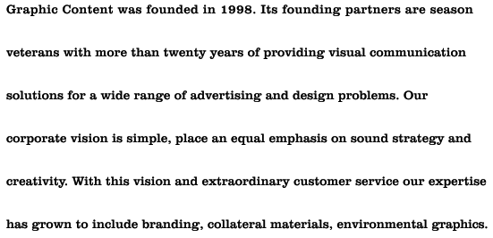 graphic content was founded in 1998.